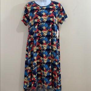LuLaRoe Bomb POP Maxi Dress  NEW  Size S